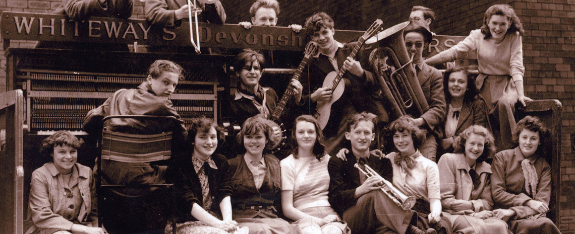 The Vernon Street Ramblers Jazz Band at Leeds Charity Rag, Spring 1949