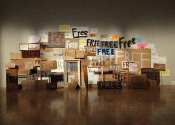 Image Copyright Peter Liversedge - 'Free Signs', Whitehapel Art Gallery